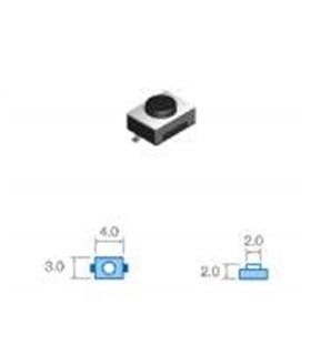 pulsador smd 3,0x4,0mm, Altura total 2,0mm - SWD20
