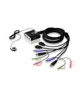 CS692 - KVM, 2 vezes, HDMI, USB, áudio, cabo integrada - CS692