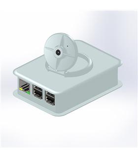 Caixa Branca para Raspberry  PI3 com Suporte para Camara - TEK-CAM3.40