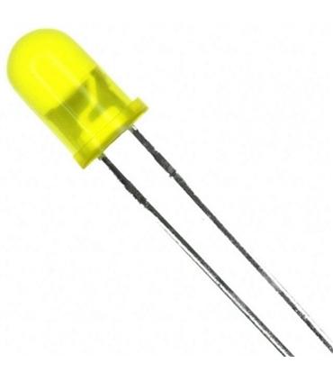 Led 5mm Amarelo Intermitente 12V, 21mA - 1245IY12