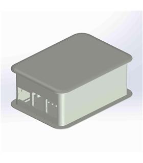 TEK-RPI-XL.40 - Caixa Branco para Raspberry B+ e B2 - TEKO - TEK-RPI-XL.40