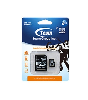Cartão micro SDHC CARD 8Gb  TEAM CLASS10 - SD8GBT