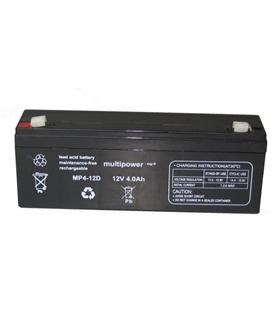 MP4-12D - Bateria Gel Chumbo 12V 4Ah 195x48x70mm - 124