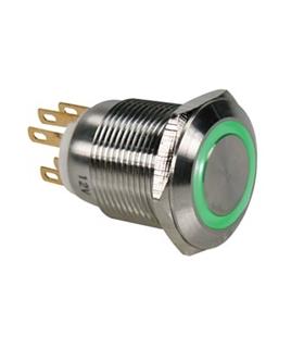 Pulsador Metálico Luminoso Azul R1900B - MS1900B