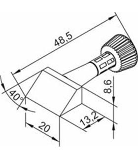 Ponta 2mm para ERSA I-Tool Pack 10un - 0102CDLF20/10