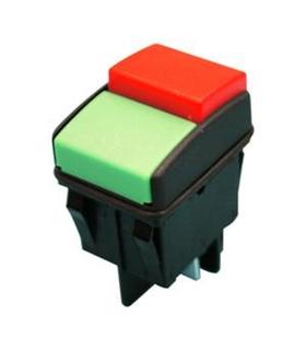 Interruptor Unipolar 2 Teclas Vermelho/Verde 16A 250V - RL2T