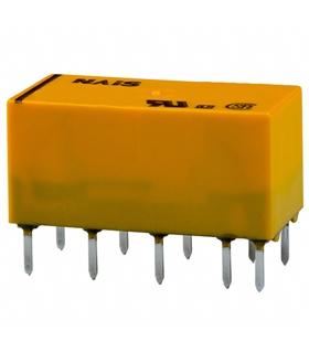 DS2E-SL2-DC12V - Latching Dual Coil, DPDT, 12 VDC, 2 A - DS2E-SL2-DC12V