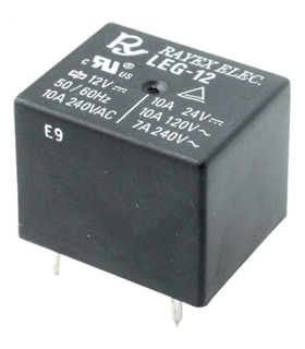 Relé SPDT 10A 12VDC 30mA PCB - Rayex LEG-12 - LEG-12