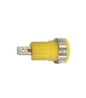 Alveolo Painel 4mm - 10A/250VAC - Amarelo - AP4Y