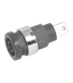 Alveolo Painel 4mm - 10A/250VAC - Preto - AP4