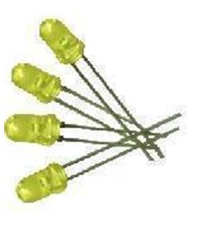 C-2744 - Pack de 10 Leds Amarelos Alto-Brilho 6300mcd - C-2744