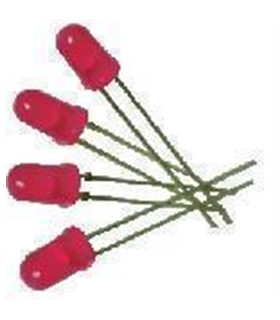 C-2730 - Pack de 10 Leds Vermelhos 300mcd - C-2730