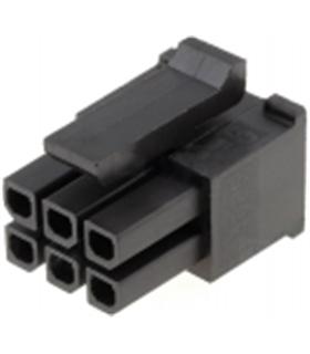 MX-43025-0600 - Ficha Molex MicroFit 6 Pinos Femea - 69MF6F