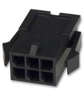MX-43020-0600 - Ficha Molex MicroFit 6 Pinos Macho - 69MF6M
