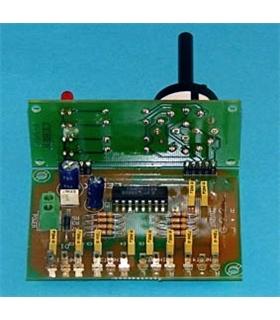 P-3 - Selector Audio Stereo 4 Canais 12Vdc - P-3