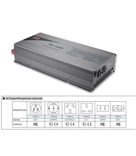 TS-1500-224B - Conversor 24Vdc  Para 230Vac 1500W Onda Pura - TS-1500-224B