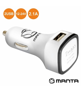 MA444 - ADAPTADOR FICHA ISQUEIRO 12/24V USB 5V 2.1A BRANCO - MA444