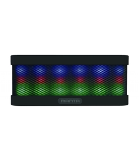COLUNA BLUETOOTH PORTÁTIL 2X3W USB/SD/FM/AUX/BAT LEDS - SPK417