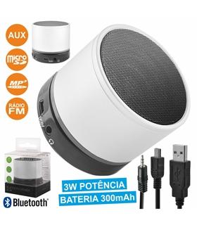 BS100 - COLUNA BLUETOOTH PORTÁTIL 3W USB/SD/AUX/FM/BAT/MIC - BS100