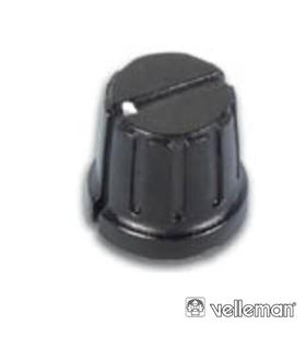 KN206BP - Botao Preto Com Ponto Branco 20.8x6mm - KN206BP
