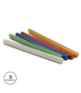 72132 - Conjunto De 5 Barras De Cola Quente 11mm Coloridas - 72132