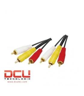 DCU302215 - Cabo Audio 3 RCA M/M 1.5mt - DCU302215