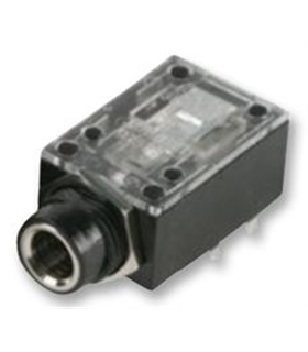 Jack 6.35mm Stereo Femea Para Circuito Impresso - J6SCI