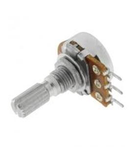 Potenciometro Rotativo Linear Metálico C/Veio 50K OHM - 162050KM
