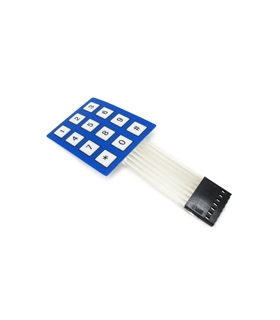 MX120726001 - Small Sealed Membr.4X3 Button Pad with Sticker - MX120726001