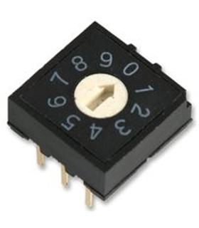MCRH3AF-10R - Micro switch 10 posicoes, 24V, 25mA - MCRH3AF-10R