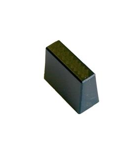 Botão Preto Para Potenciometro Deslizante - BPDB