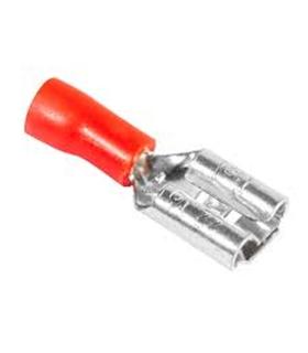 Terminais Faston Fêmea Isolado 6.3mm Vermelho - 69TFI6.3R