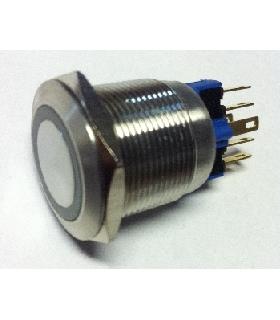 V22-21R-12B-S - Interruptor de pressão SPST-NO + SPST-NC - V22-21R-12B-S