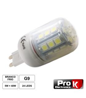LLG902WW - Lampada G9 12V 5W 24 Led Branco Quente - LLG902WW
