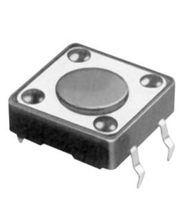 Botão miniatura 12x12x(4.3)mm SPST-NO 12VDC 50mA THT 2.5N - SW082