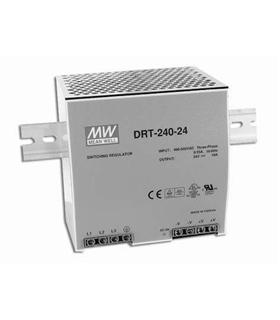 DRT-240-24 - Fonte Alimentacao Calha DIN IN 400-500AC OUT 24 - DRT24024