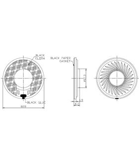 MXSP2808 - Altifalante 8W 0.5W 81dB 28mm - MXSP2808