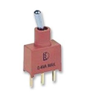 1AS4T2B4M2RE - Interruptor Alavanca PCB, SPDT MOM-OFF-MOM - 1AS4T2B4M2RE