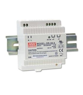 DR-30-12 - Inp. 85-264Vac Out. 12Vdc 2A 30W de Calha - DR3012