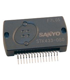 STK433-060 - Thick-Film Hybrid IC 2-channel class AB audio - STTK433-060