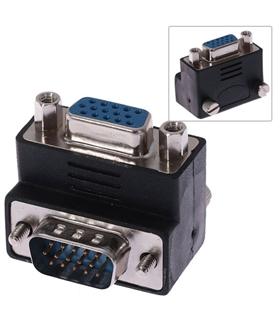 Adaptador VGA M/F Angulado a 90º - GR7015