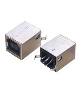 Ficha USB B Para montagem vertical em CI - USBBCI