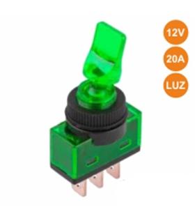 Interruptor Alavanca Luminoso Verde - ITR110GR