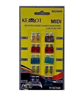 Kit 10 Fusíveis Para Carro 5-30A - MXBLAFU10