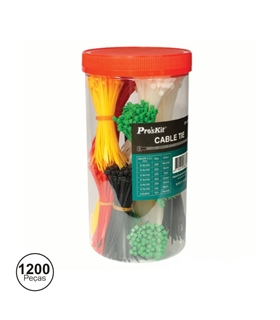 Braçadeira Plástica Com 1200 Unidades ProsKit - OP1200