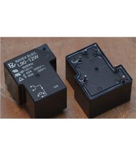 electromagnético; SPST-NO; Ucoil 12VDC; 16A//250VAC; 1 X HF115F-I//012-1H3A Relé