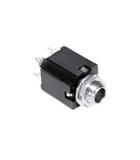 Ficha Jack Fêmea 6.5mm Stereo Painel - J6FSP