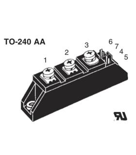 Módulo Tiristor 1200V 60A  Semipak 1 - IRKT56/12