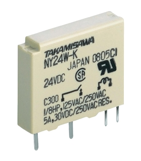 NY24W-K - Rele SPST-NO; Ucoil:24VDC; 5A/250VAC; 5A/30VDC - NY24WK