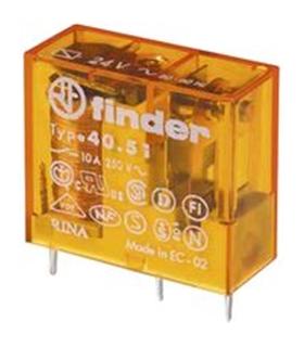 Type 40.51 - Rele Finder 24V AC 10A 1Inv. - F40512410A